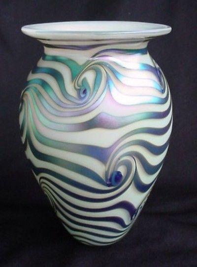 Eickholt Studio Iridescent EGYPTIAN WAVE Vase.