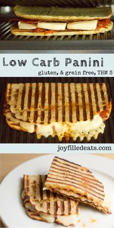 Low Carb Panini! Recipes for a Turkey Cheddar Chipotle Panini & a Pepperoni Pizza Panini. Grain Free, THM S, Gluten Free, Keto.