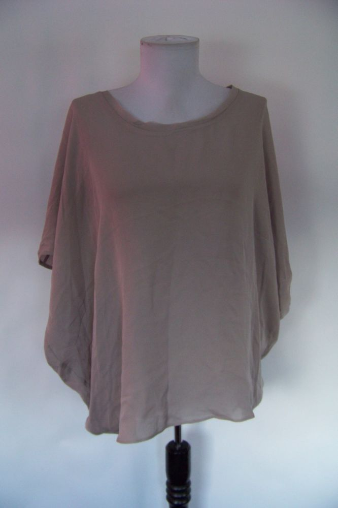 ec0b091b01eeb 4135 NWT ACROBAT GRAY OVERSIZED 100% SILK TOP BLOUSE S  fashion  clothing   shoes  accessories  womensclothing  tops (ebay link)