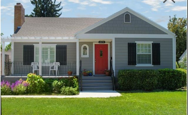 Grey, House And Porches