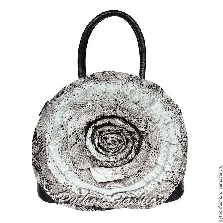 Купить Сумка из питона ROSE - кожа питона, из питона, из кожи питона, сумка из кожи питона