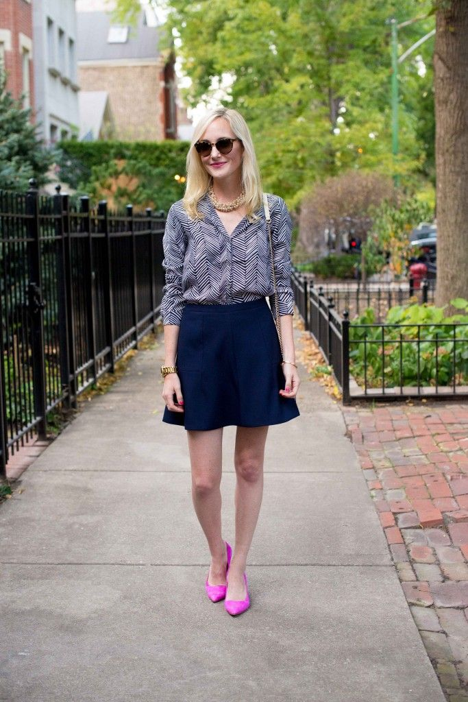 Kelly in the City - J.Crew Fluted Skirt