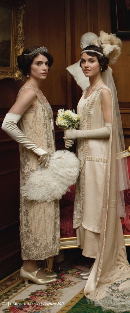 'Downton Abbey' Christmas Special, 2013 - Costumes Designed by Caroline McCall.