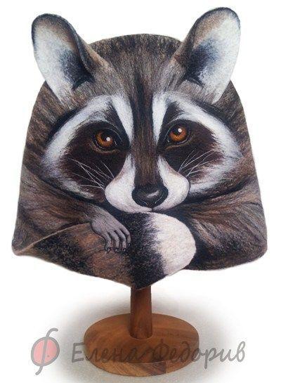Аворская шапка для бани, изготовлена из 100% шерсти, весь рисунок набит разноцветной шерстью ( не нарисовано) Можно стирать и гладить, не линяет.