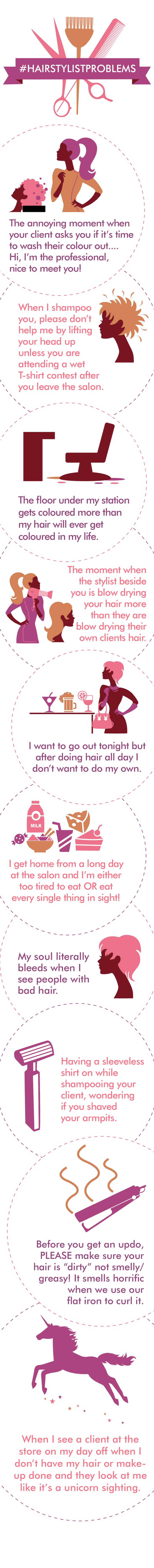 #HairstylistProblems | Hairsytlist | hairdresser | salon problems | hair | hair humor