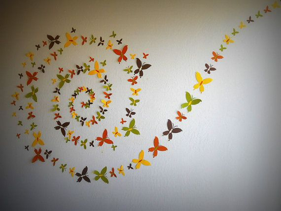 Set of 100   3D Butterfly Wall Art Wall Decor 3d by MyDreamDecors, $75.00