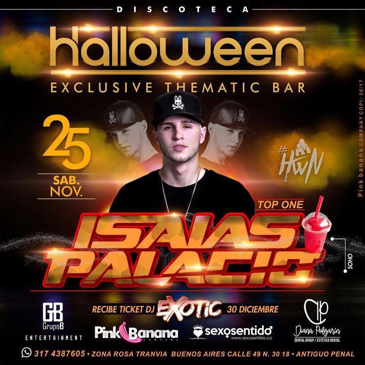 HALLOWEEN  @halloween_discoteca presenta HOY! Sábado 25 de Nov.  a uno de los lideres de  Musica Electrónica En Colombia  @isaiaspalaciodj @isaiaspalaciodj @isaiaspalaciodj en vivo en una noche llena  de Exclusividad  porque somos una nueva experiencia #HWN No te quedes por fuera y reserva ya  317 438 76 05  invita : @elgrupob @dradianapulgarin @sexosentidocol #Pinkbananacompany #medellin #isaiaspalacio #isaiaspalaciodj #rumbasenmedellin #rumbasbuenosairesmedellin #rumbasbuenosaires…