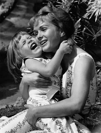 Debbie Reynolds (Singin' in the Rain) with her daughter, Carrie Fisher (Princess Leia in Star Wars)