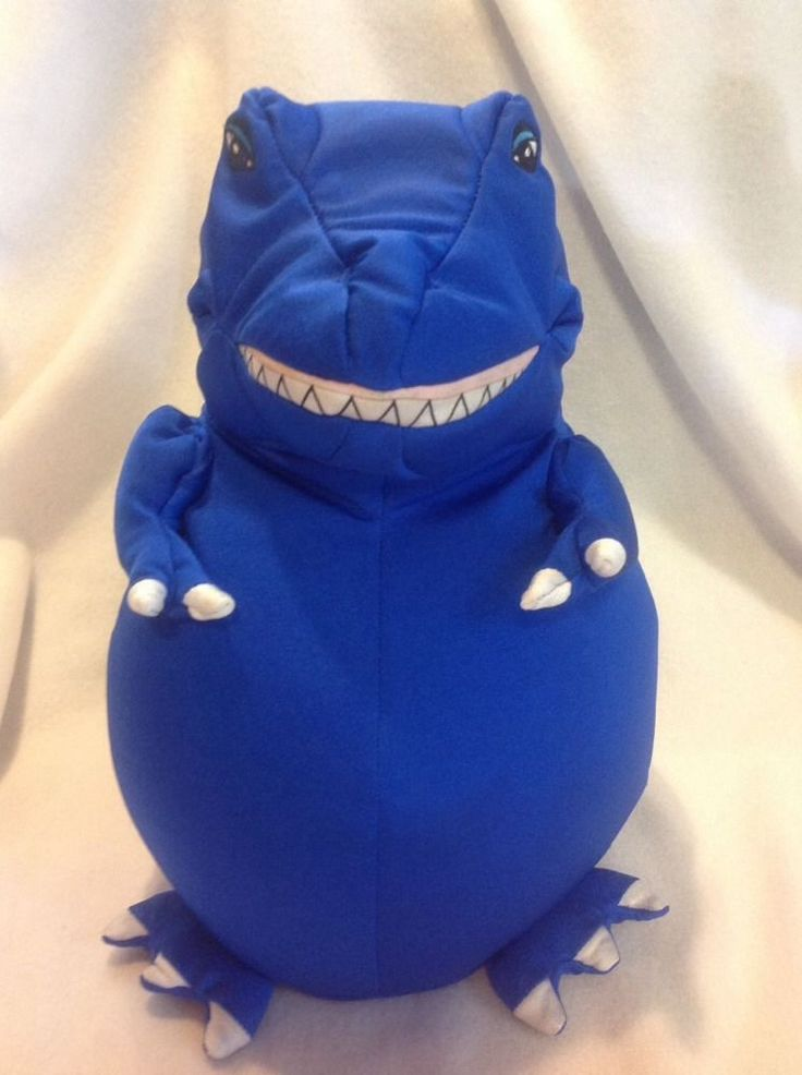 Moshi T-Rex Dinosaur Microbead Pillow Plush Stuffed Animal Royal Blue Dino Kids #moshi Moshi ...