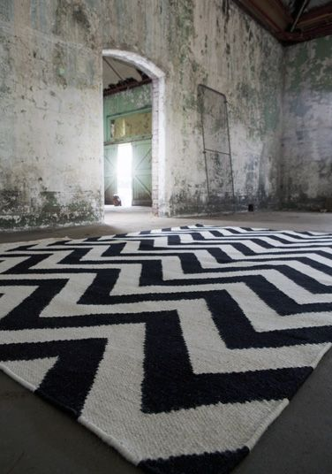 Chevron - Bold and expressive, Chevron attests to the decorative value of rugs with its stylish pattern and young, modern color scheme and the perfect floor fashion.