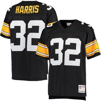 Franco Harris Pittsburgh Steelers Mitchell   Ness Retired Player Replica  Jersey - Black  9e81e13e0