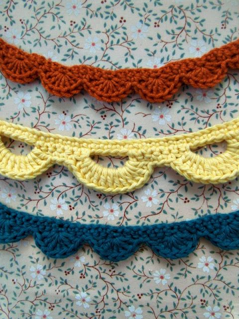 crochet garland and bunting layered, closet door or mirror or doorway