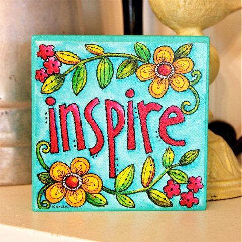 INSPIRE Art Block Inspirational Stackable by karladornacher, $8.00