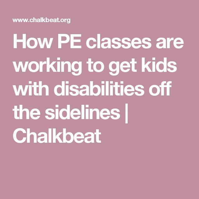 (ARTICLE) How PE classes are working to get kids with disabilities off the sidelines | Chalkbeat I chose this article because I believe that PE programs need to open their eyes on the importance of physical education for all students. I think that most teachers and administrators focus health problems like obesity, diabetes, etc instead of also focusing on students with disabilities that can benefit from physical education.