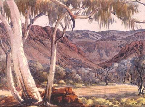 Fenns Gap, MacDonnell Ranges by Albert Namatjira