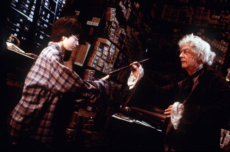 John Hurt and Daniel Radcliffe, Harry Potter and the Sorcerer's Stone, 2001