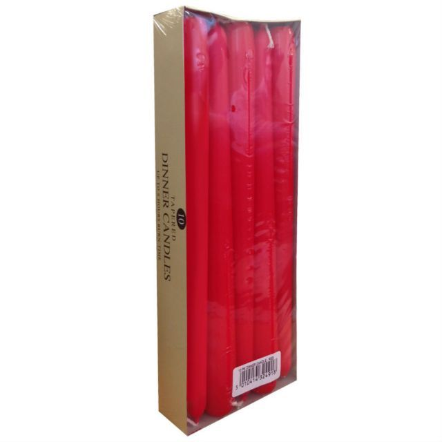 Prices Candles Price's Red Taper Candles - Pack of 10 | Hilary Rhodes on WeShop
