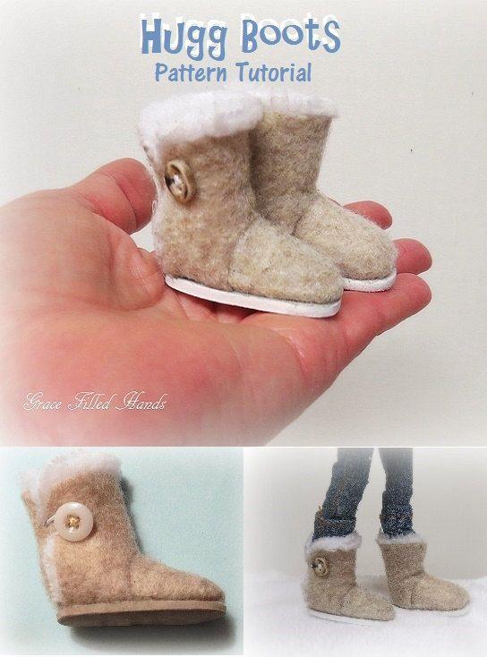 Hugg Doll Boots Pattern PDF Tutorial Pictorial for Your Bratz Moxie Dolls Feet