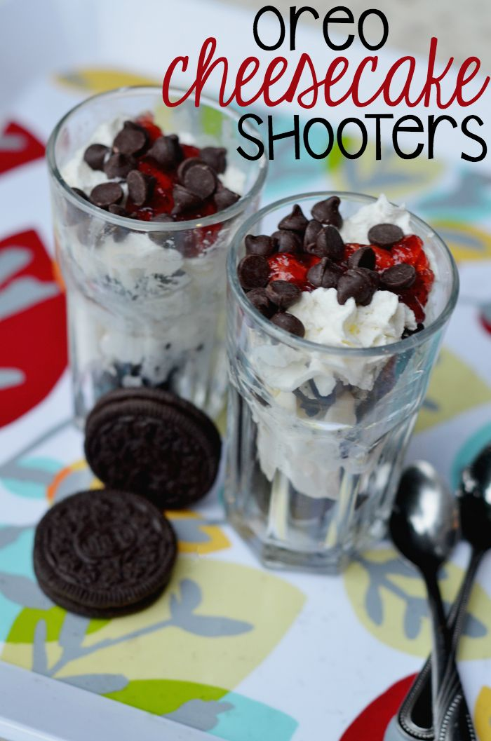 Try these OREO cheesecake shooters for an easy and fun dessert idea. Children can help make their own or you can host a party with a dessert bar.