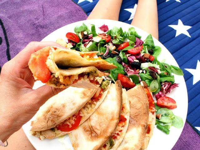 VeganMisjonen: Quesadilla med fullkornsris og bønner