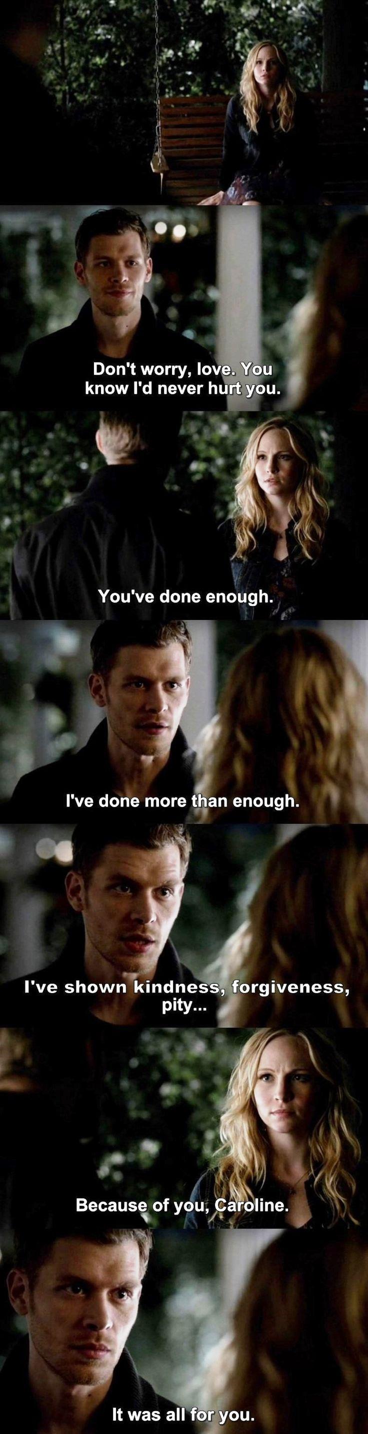 The Vampire Diaries TVD S04E14 - Klaus & Caroline