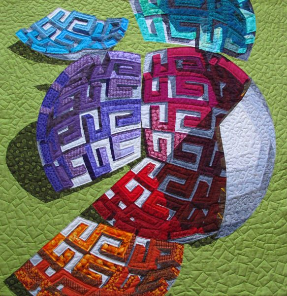 "Toverbal is Dutch for gobstopper or jawbreaker, but a more literal translation would be ""magic ball"".. Quilt detail."