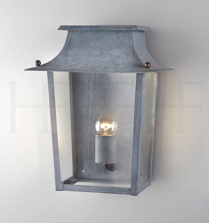 Passy Wall Lantern, large by Hector Finch In Zinc finish