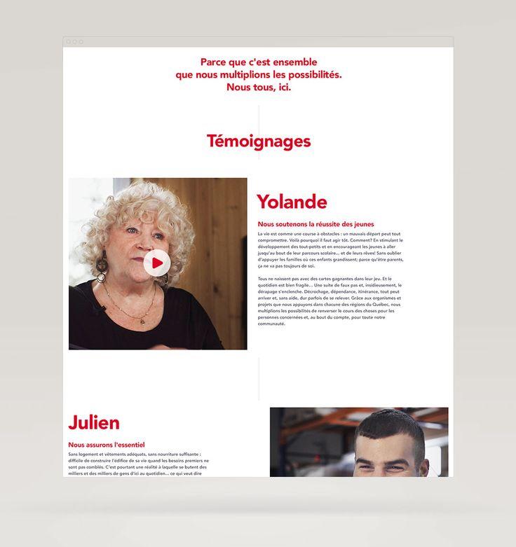Agence de communication, marketing et web à Québec IMÉDIA firme créative - Centraide  Brand positioning