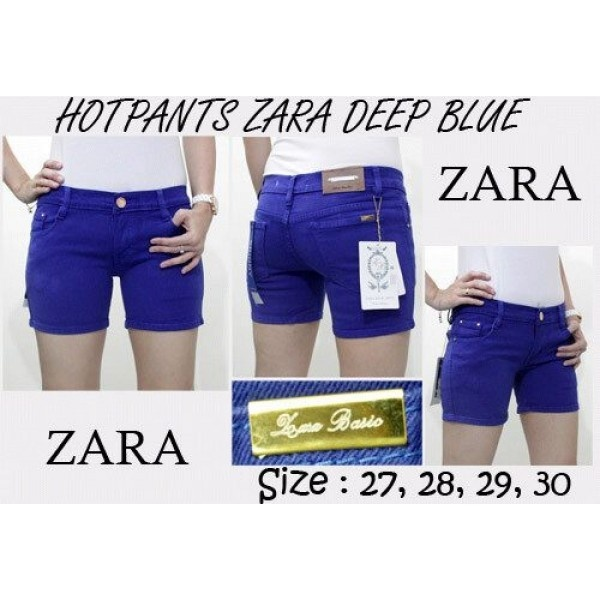 Hot Pants Zara Deep Blue