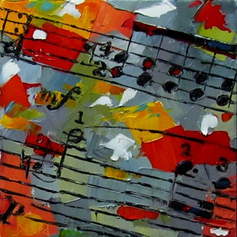 Music abstract painting jazz classical by Debra Hurd, painting by artist Debra Hurd
