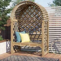 Beley Wooden Arbour Bench Wooden Arbor Arbor Bench Garden Chairs