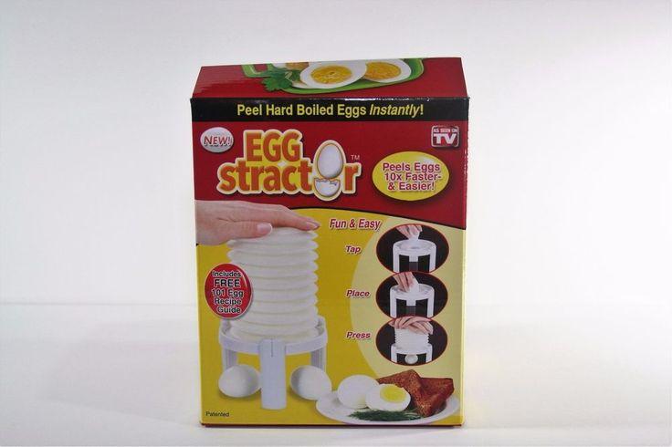 As Seen on TV Eggstractor hard boiled egg peeler NIB #AsSeenonTV