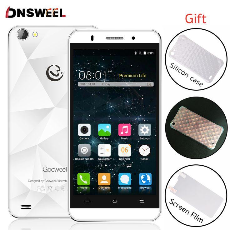 "Regalo libre gooweel mt6580 m5 pro teléfono celular quad core 5.0 ""IPS QHD del teléfono móvil Android5.1 8MP $ number MP cámara GPS 3G WCDMA Smartphone"