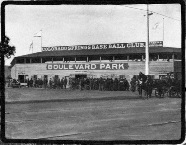 Boulevard Ball Park ~ Home of the Millionaires ~ Members of the Western League ~ Colorado Springs Colo ~ 1902