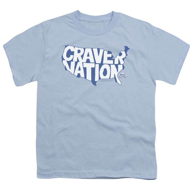 WHITE CASTLE/CRAVER NATION-S/S YOUTH 18/1-LIGHT BLUE