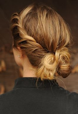We all love a good twisted up do! Perfect for fall style!
