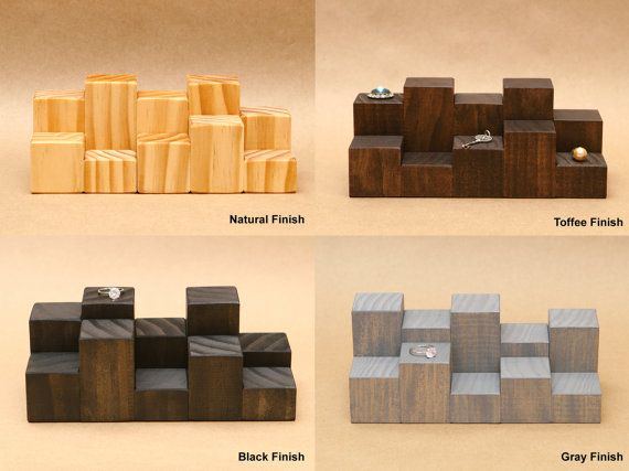 Ring Display Riser / Mini Wooden Riser / Figurine door USAVECO