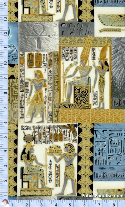 Legacy - Gilded Egyptian Collage #2 on Cream