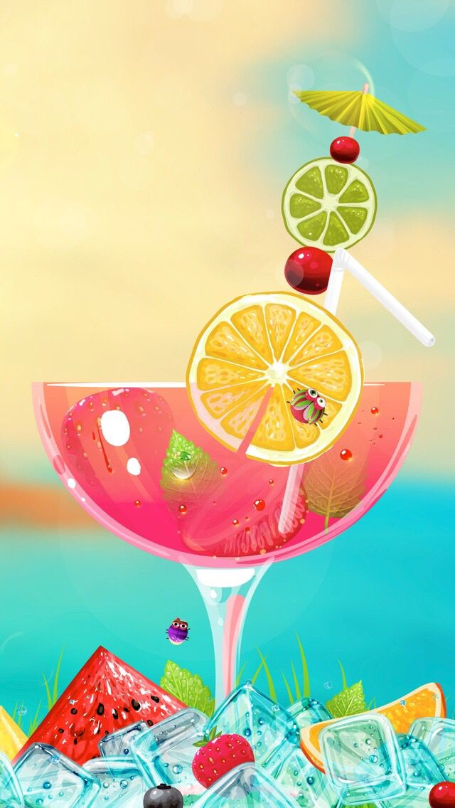 Drinks On The Beach Wallpaper | Free Here
