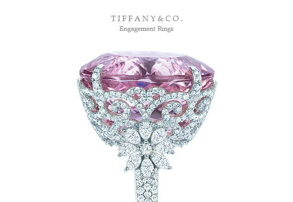 Pink Diamond Wedding Rings From Tiffanys Queen Of All