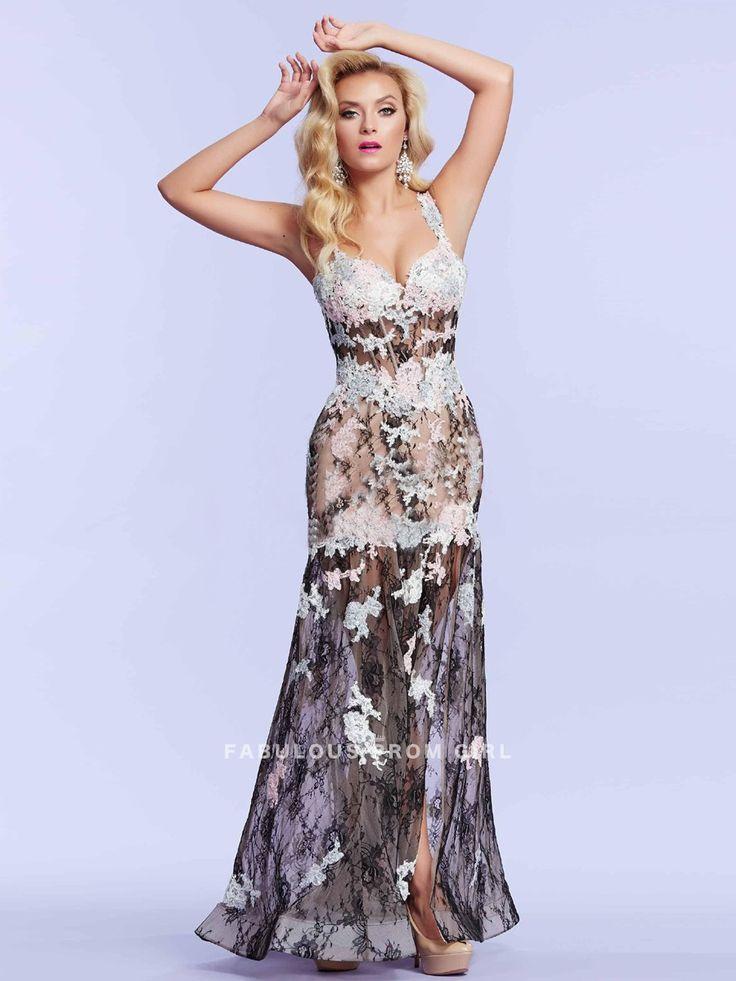 Sheath+/+Column+Applique++Lace++Prom+Dresses+/+Evening+Dresses+