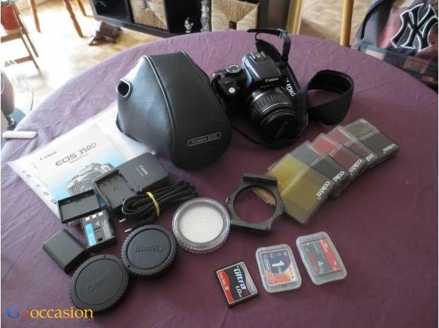 Appareil Photo canon 350 avec objectif 18-55  - http://www.go-occasion.fr/appareil-photo-canon-350-avec-objectif-18-55/