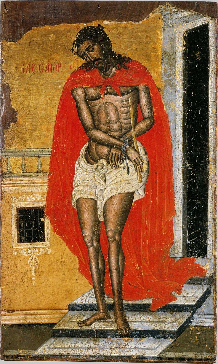 """Ecce Homo"". Early 17th c.R. Andreadis collection, Athens, Greece. Иисус Христос ""Се Человече""; Греция; XVIII в."