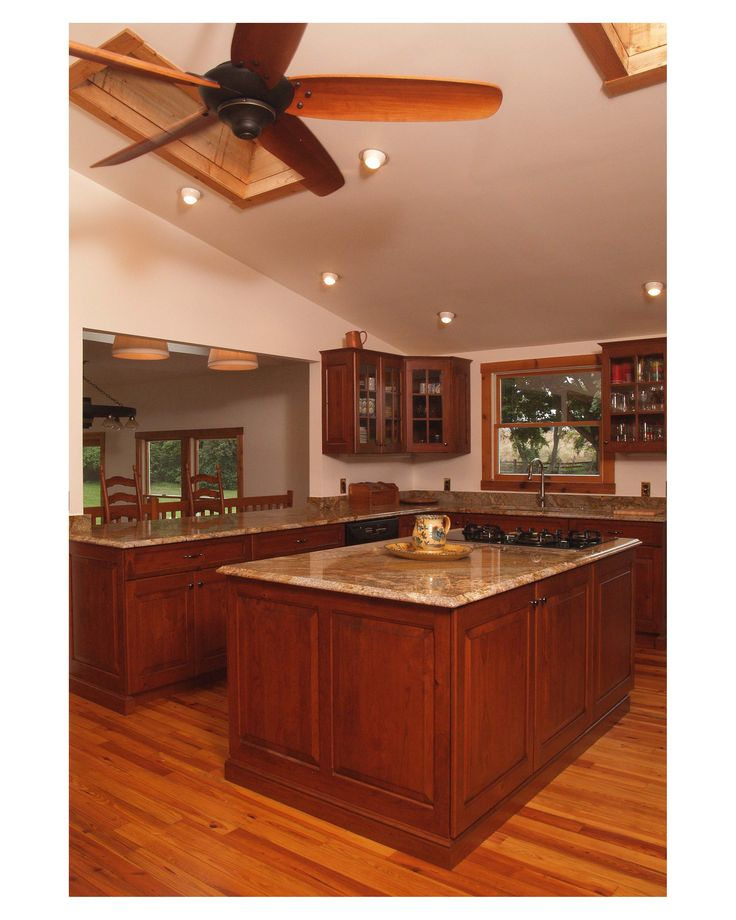 Modern Cherry Wood Kitchen Cabinets: Log Cabin Style With Modern Comforts? Yes Please! Cabinets