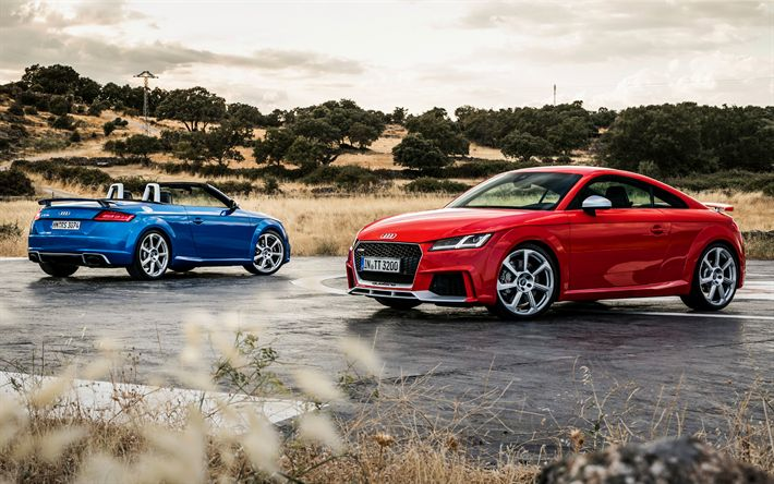 Download wallpapers 4k, Audi TT RS, 2017 cars, sportcars, audi tt, supercars, Audi