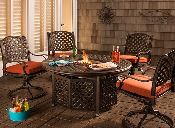 Superb Fire Pit Dining Set | Outdoor Dining Rooms | Raymour And