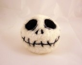 5 Inch - Needle Felted Wool Jack Skeleton Head Sculpture