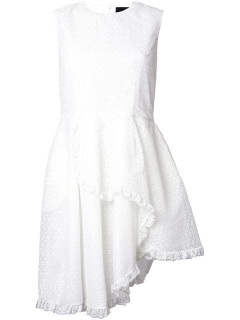 Shoppen Simone Rocha Asymmetrisches Kleid mit Rüschen.