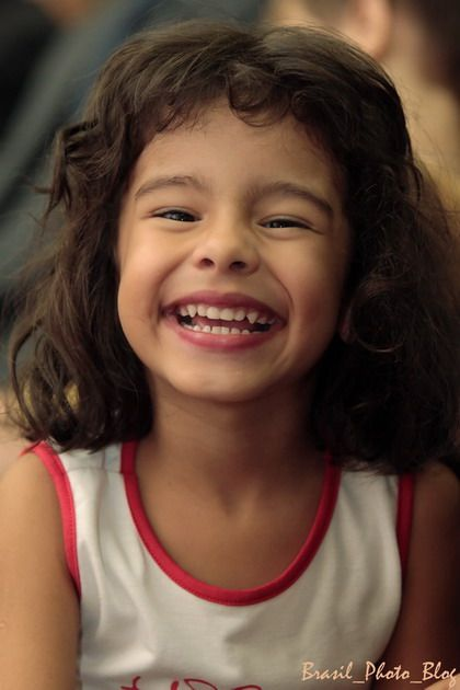 cute smile from Brazilian girl