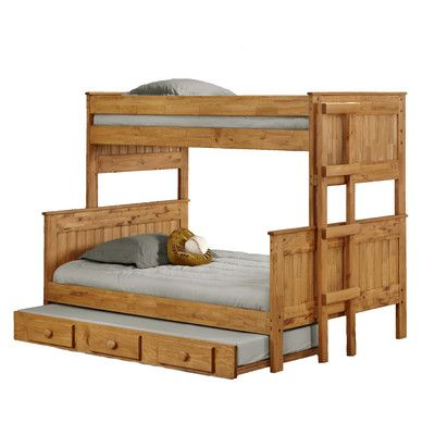 Twin Over Full Standard Bunk Bed with Trundle for Sale   Wayfair